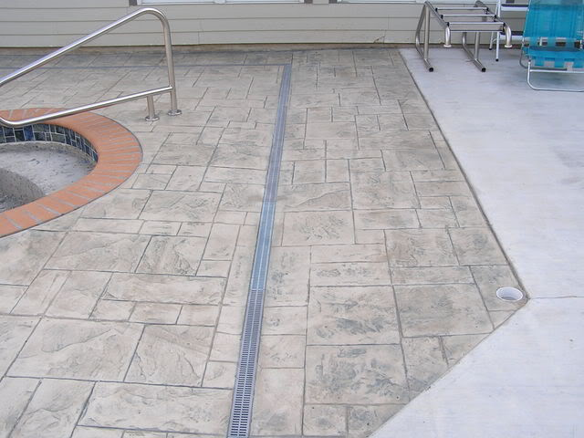 pool deck drain lowes
