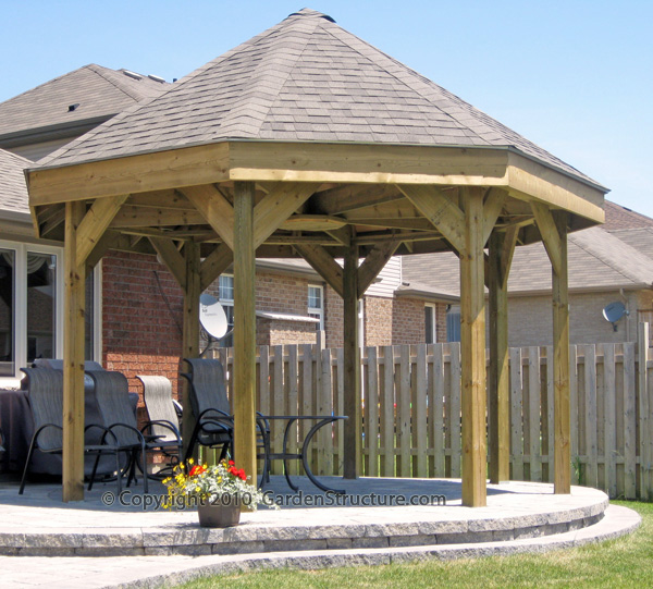 how to build a gazebo on top of a deck