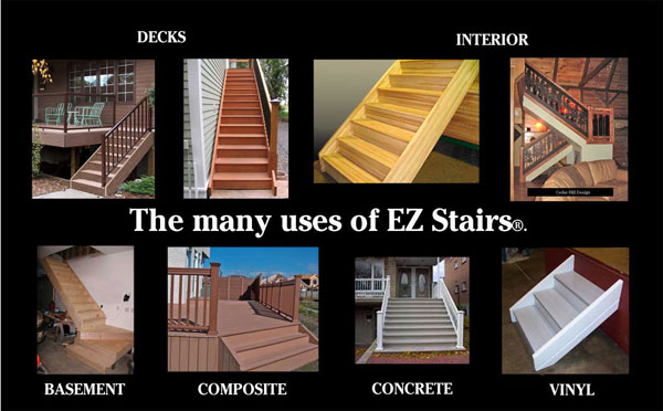 pre made deck steps