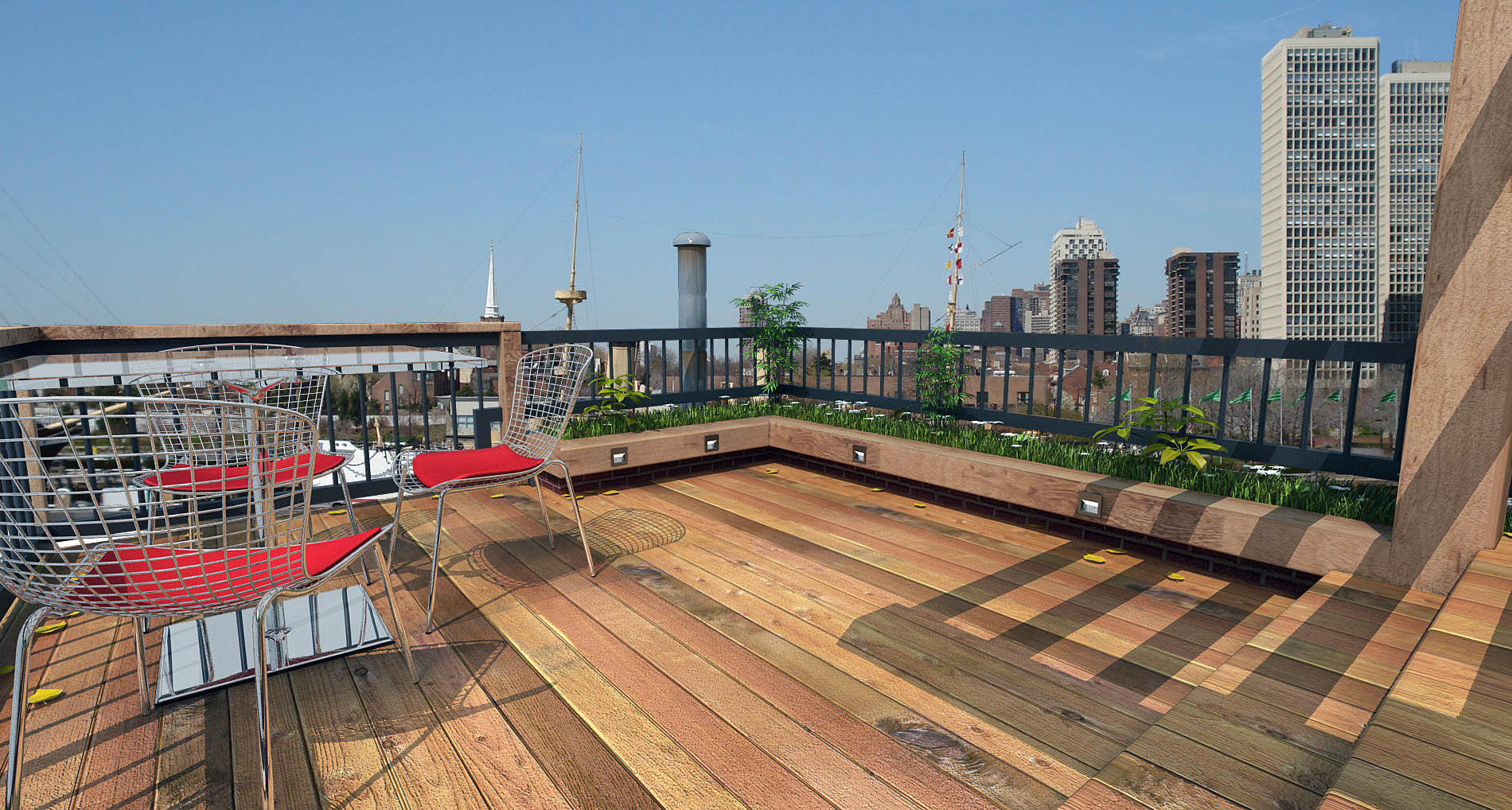 Rooftop deck | Deck design and Ideas