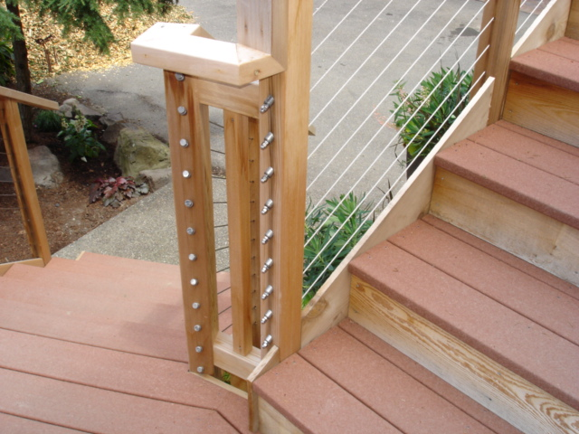 Rope deck railing pictures deck design and ideas for Garden decking with rope