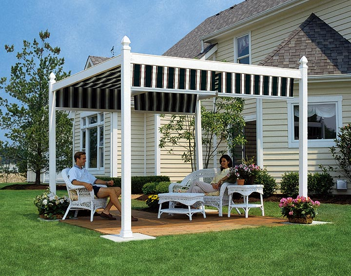 Shadetree retractable deck and patio awnings | Deck design ...