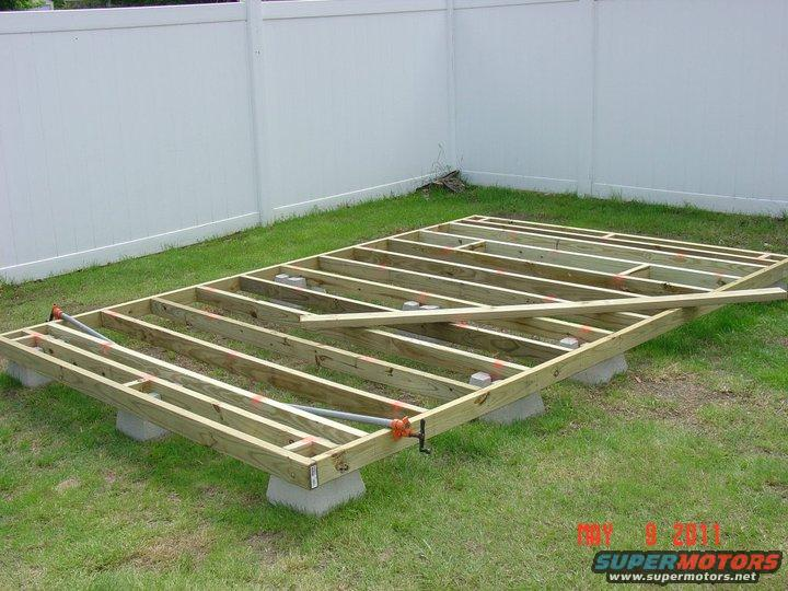Shed foundation deck blocks | Deck design and Ideas