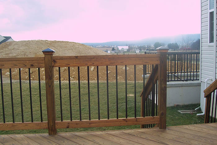 treated deck balusters
