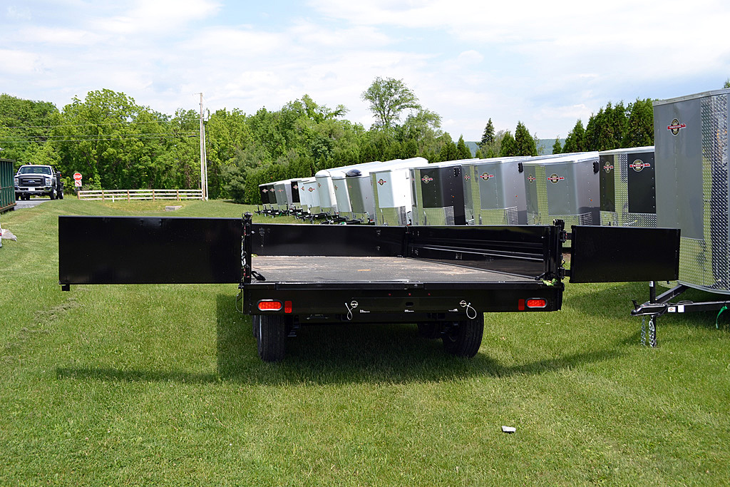 used deck over dump trailer