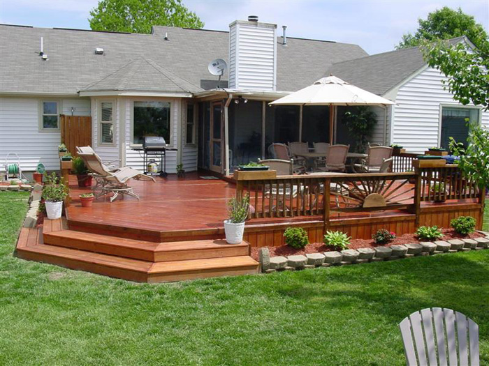 wood deck designs photos