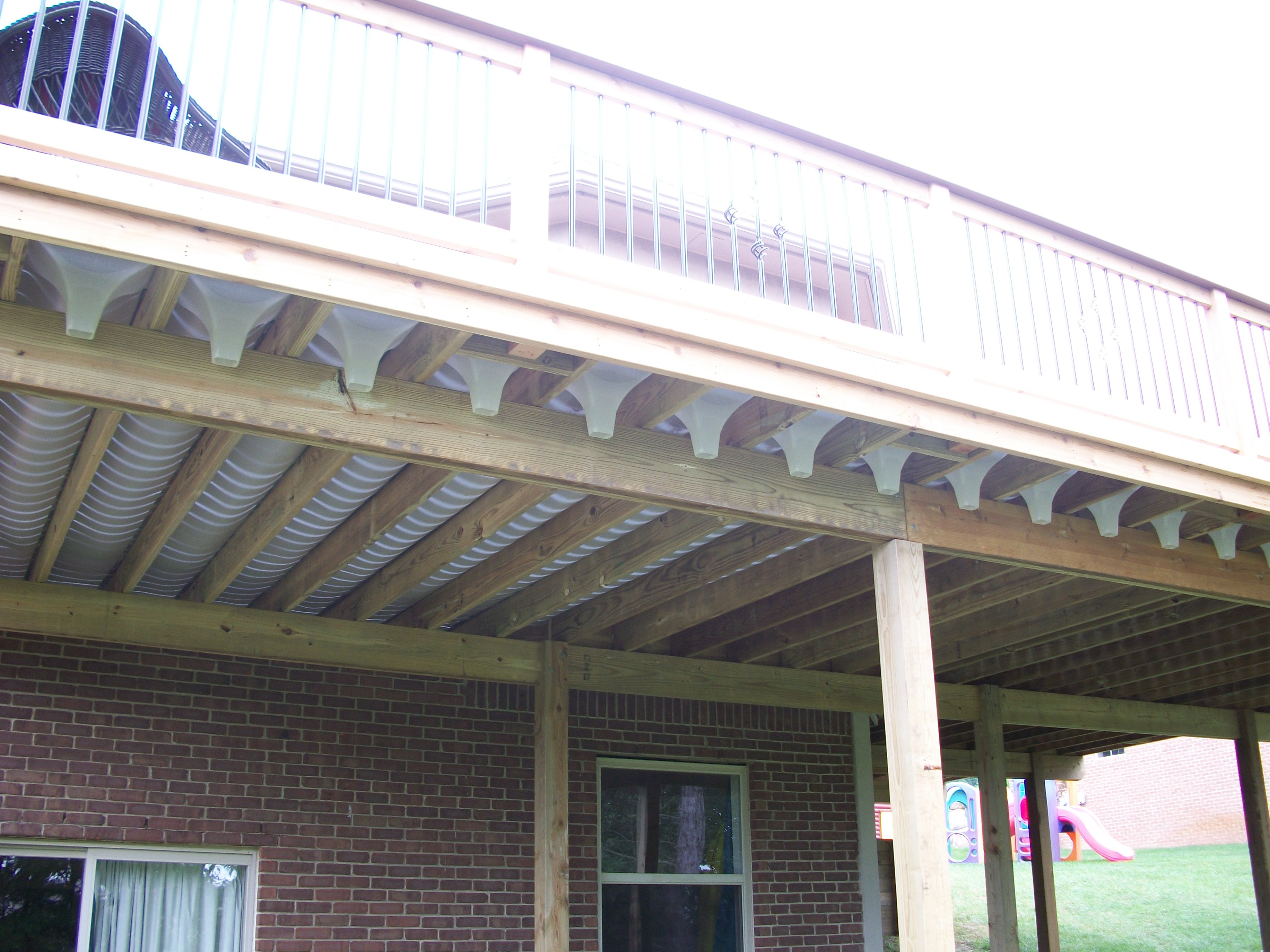 wood deck drainage systems