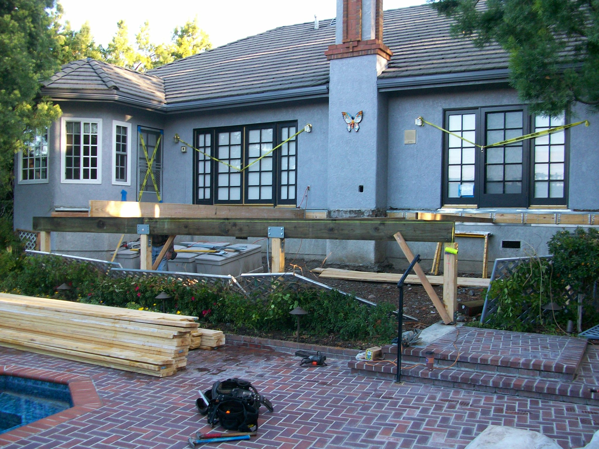 wood deck foundation