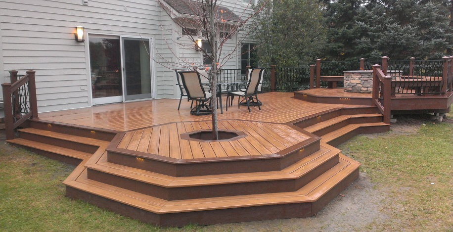 Wood Deck Gas Fire Pit