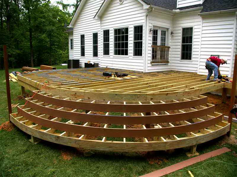 wood deck ideas designs