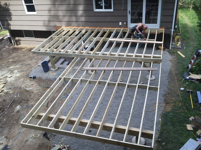 Wood deck joists deck design and ideas for Wood floor joist spacing