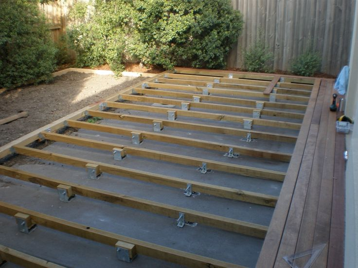 Wood deck over concrete slab deck design and ideas for Concrete slab plans