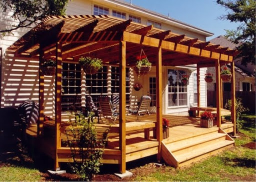 Beautiful Wooden Deck With Roof